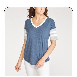 Navy/White/Gray T-Shirt